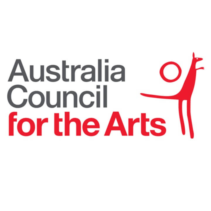 Australia Council for the Arts Logo with Red Kangaroo and sun